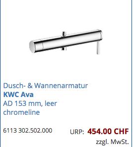 Geberit Dusch und Wannenamatur KWC Ava